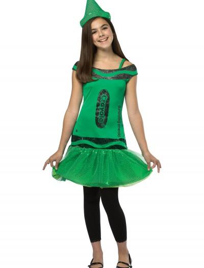 Tween Crayola Emerald Glitz Dress, halloween costume (Tween Crayola Emerald Glitz Dress)