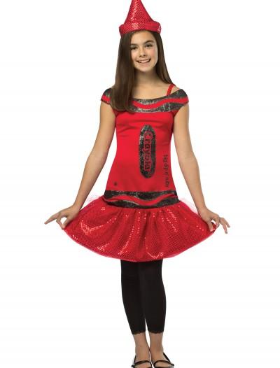 Tween Crayola Ruby Glitz Dress, halloween costume (Tween Crayola Ruby Glitz Dress)