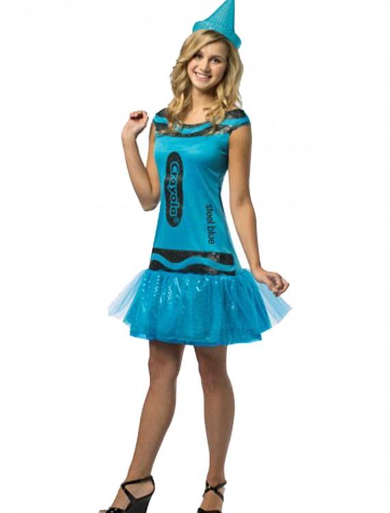 Tween Crayola Steel Blue Glitz Dress, halloween costume (Tween Crayola Steel Blue Glitz Dress)