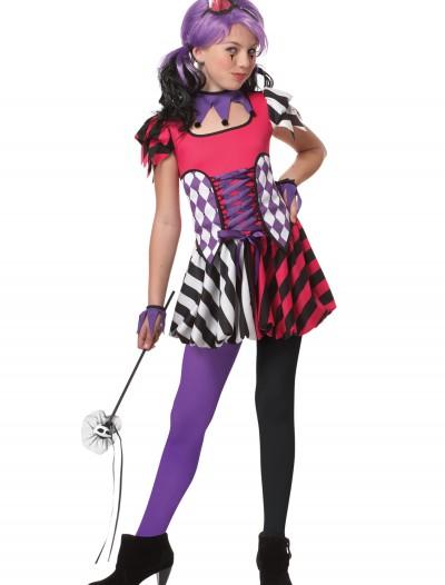 Tween Festive Jester Costume, halloween costume (Tween Festive Jester Costume)