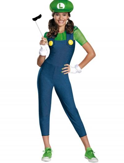Tween Girls Luigi Costume, halloween costume (Tween Girls Luigi Costume)