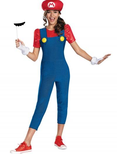 Tween Girls Mario Costume, halloween costume (Tween Girls Mario Costume)