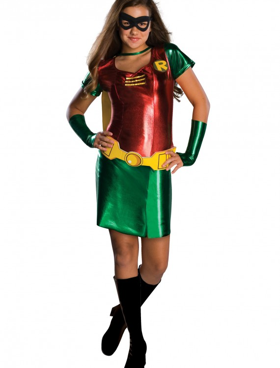 Tween Girls Robin Costume, halloween costume (Tween Girls Robin Costume)