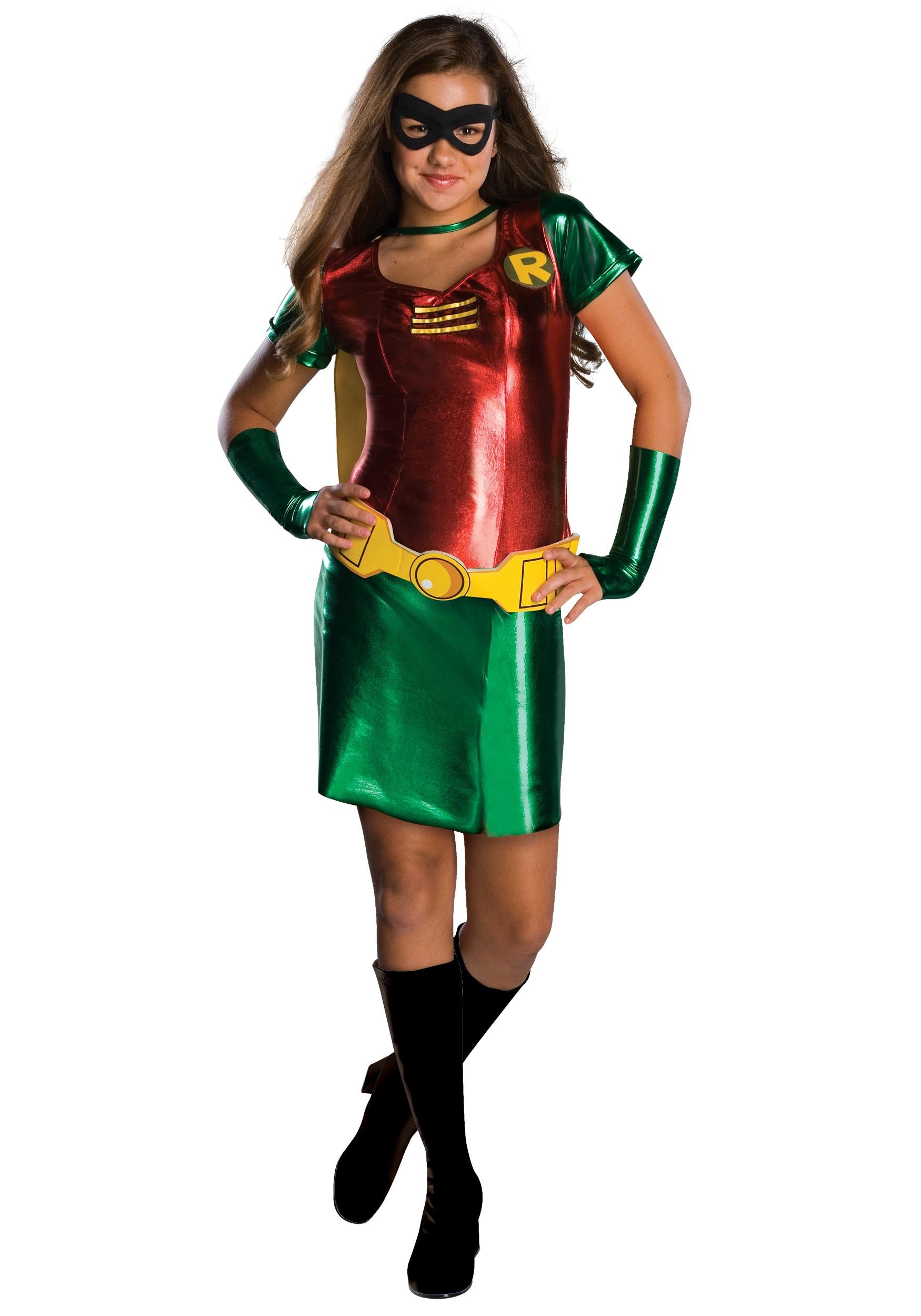 Tween Girls Robin Costume  sc 1 st  Halloween Costumes & Tween Girls Robin Costume - Halloween Costumes