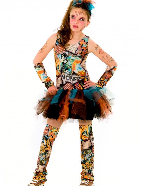 Tween Graffiti Girl Costume, halloween costume (Tween Graffiti Girl Costume)