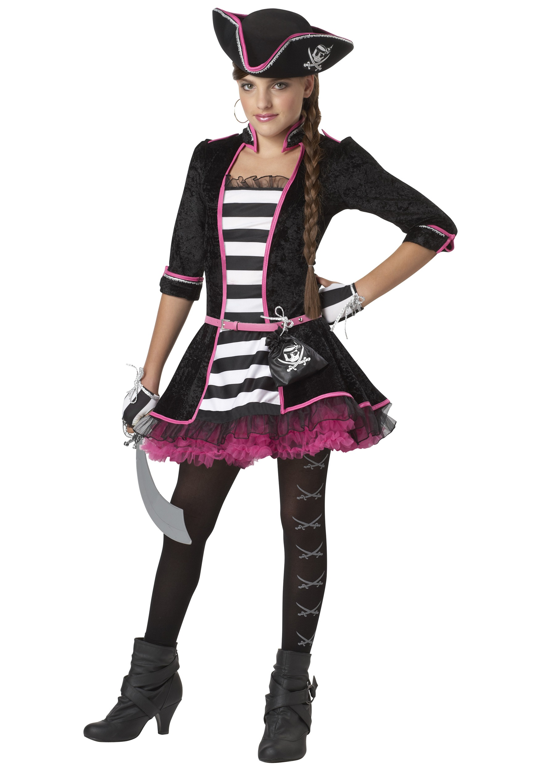 Tween High Seas Pirate Costume  sc 1 st  Halloween Costumes : cute pirate costumes for girls  - Germanpascual.Com