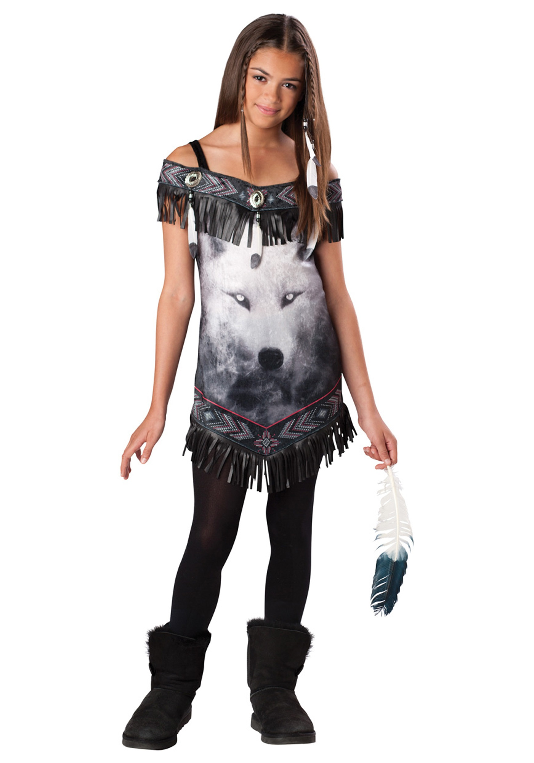 Tween Indian Tribal Spirit Costume  sc 1 st  Halloween Costumes & Tween Indian Tribal Spirit Costume - Halloween Costumes