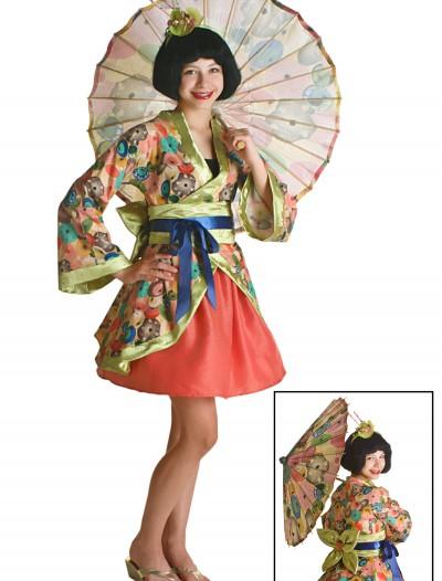 Tween Jade Geisha Costume, halloween costume (Tween Jade Geisha Costume)