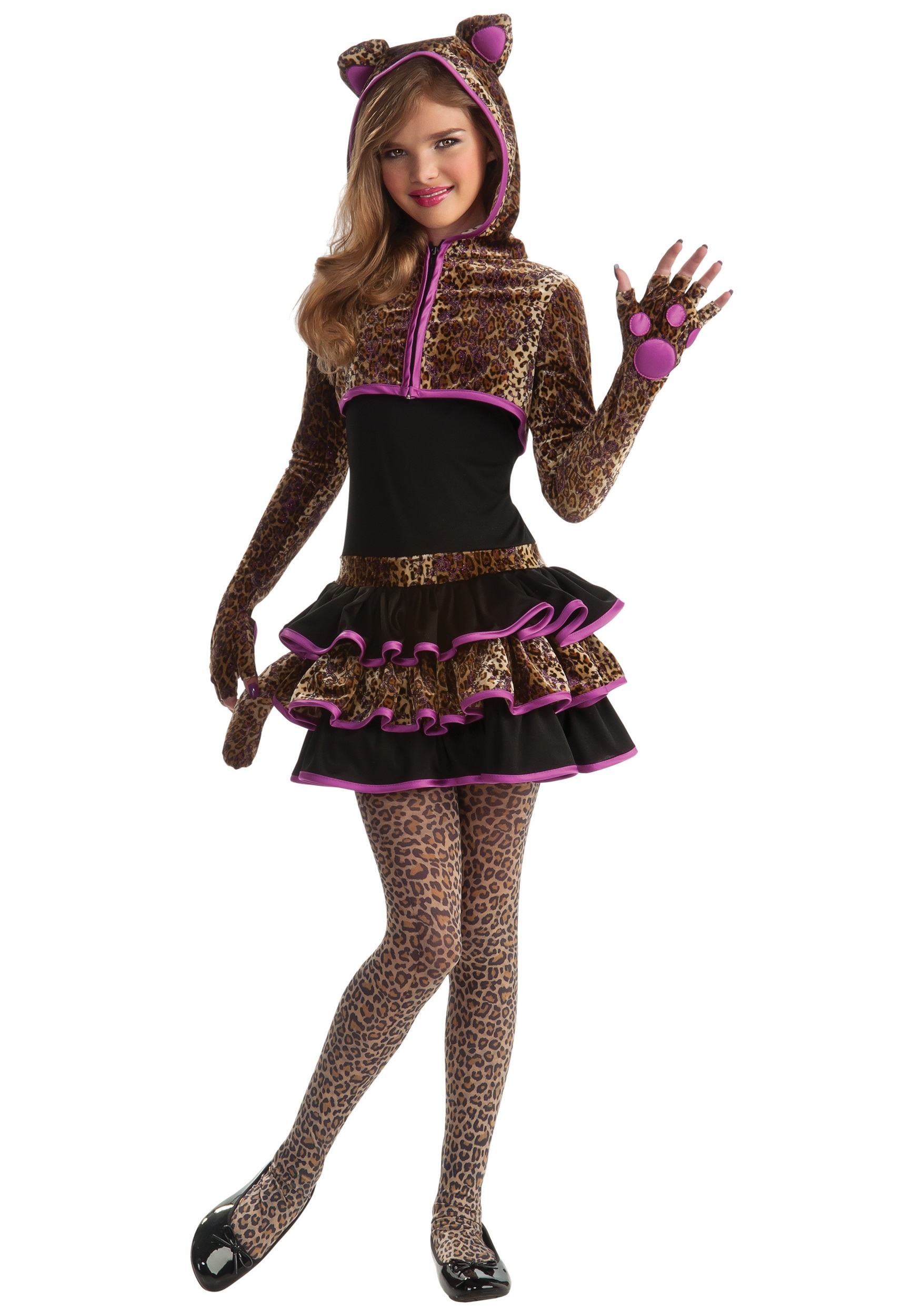 Tween Leopard Costume  sc 1 st  Halloween Costumes : halloween girls costume  - Germanpascual.Com