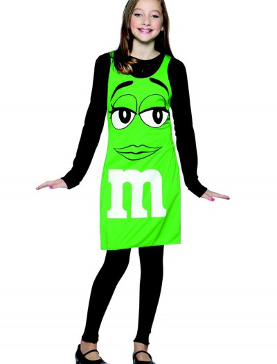 Tween M&M Green Tank Dress, halloween costume (Tween M&M Green Tank Dress)