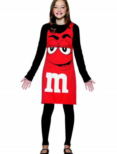 Tween M&M Red Tank Dress, halloween costume (Tween M&M Red Tank Dress)