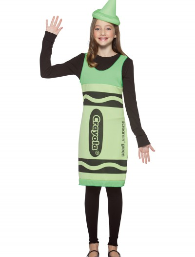 Tween Screamin' Green Crayon Dress, halloween costume (Tween Screamin' Green Crayon Dress)