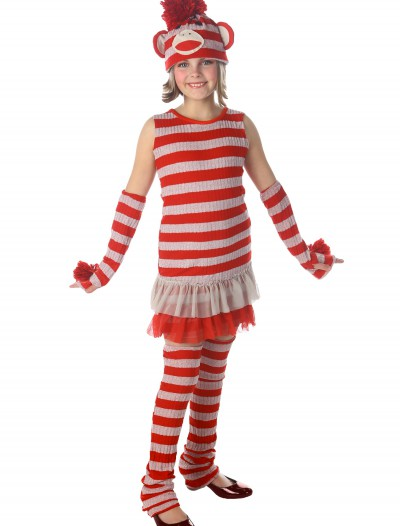 Tween Sock Monkey Costume, halloween costume (Tween Sock Monkey Costume)
