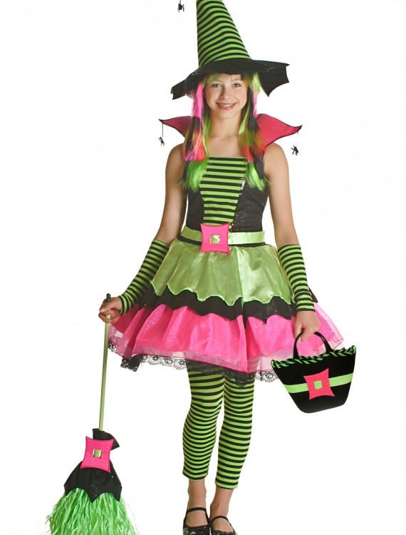 Tween Spiderina Witch Costume, halloween costume (Tween Spiderina Witch Costume)