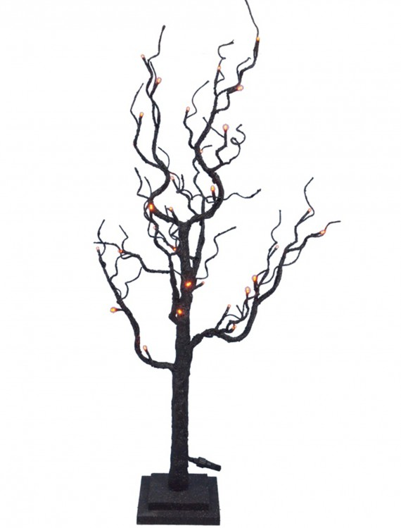 "35"" Twig Tree w/Orange Lights, halloween costume (35"" Twig Tree w/Orange Lights)"