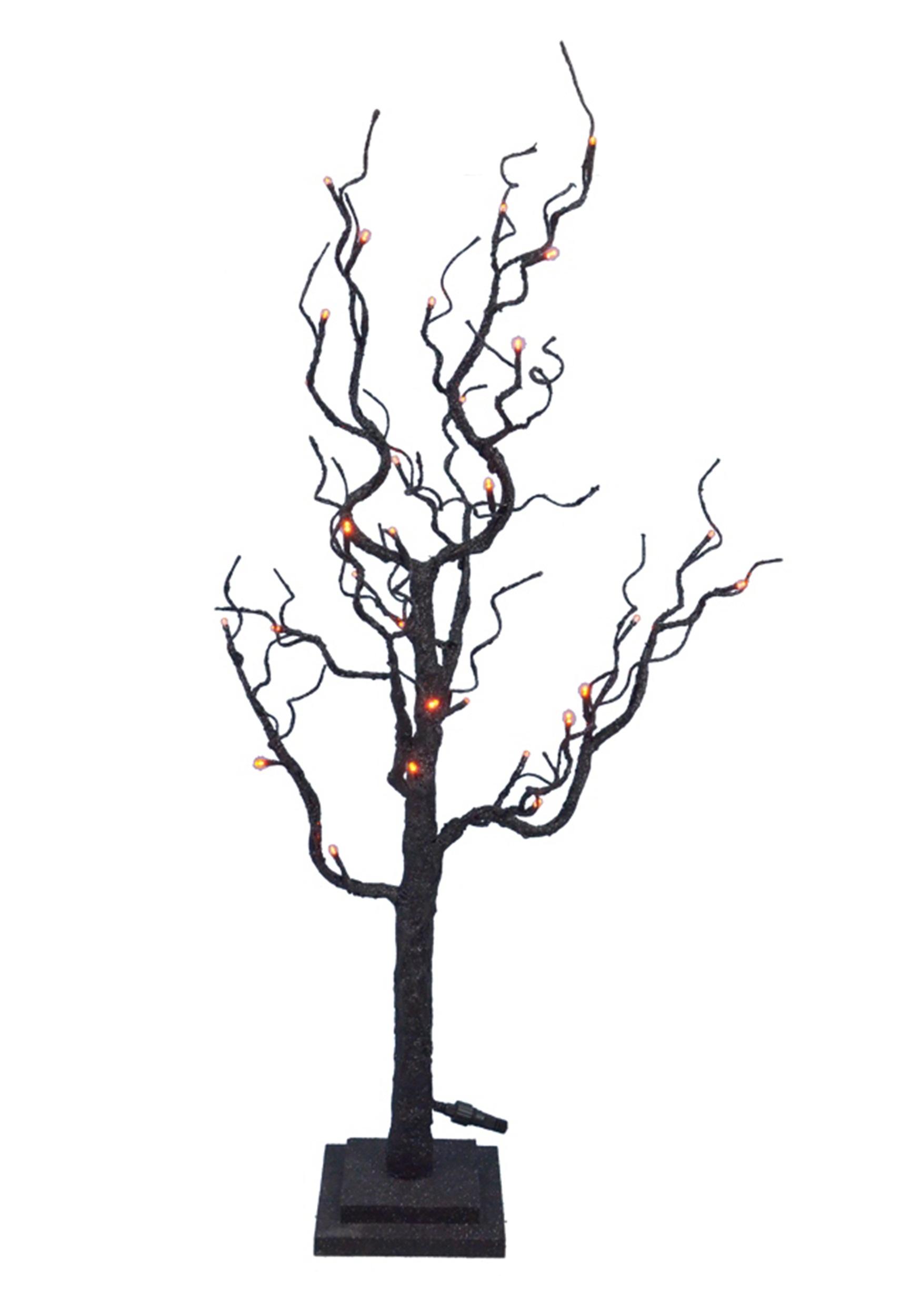 35 Twig Tree W Orange Lights