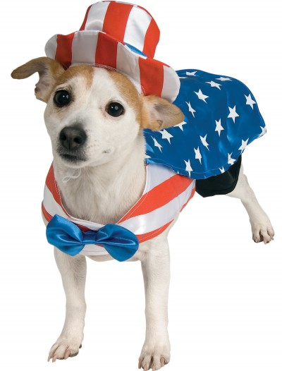 Uncle Sam Pet Costume, halloween costume (Uncle Sam Pet Costume)