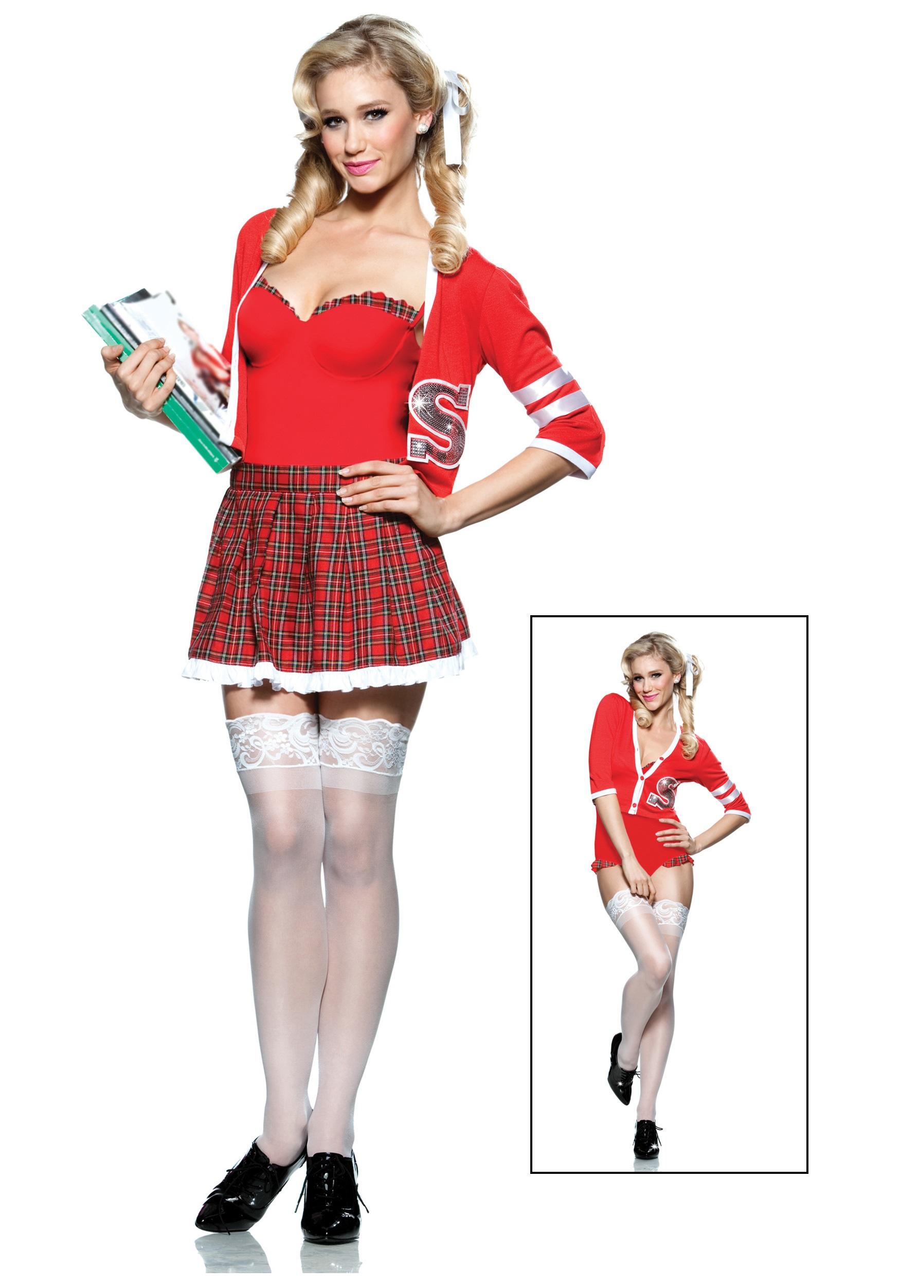 Varsity School Girl Costume  sc 1 st  Halloween Costumes & Varsity School Girl Costume - Halloween Costumes