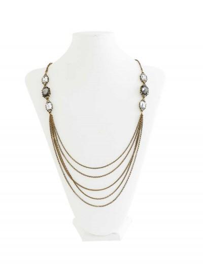 Vintage Brass Multi Chain Necklace, halloween costume (Vintage Brass Multi Chain Necklace)