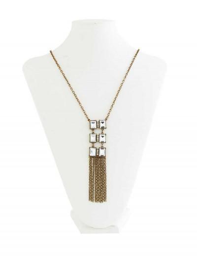 Vintage Brass Pendant Necklace, halloween costume (Vintage Brass Pendant Necklace)