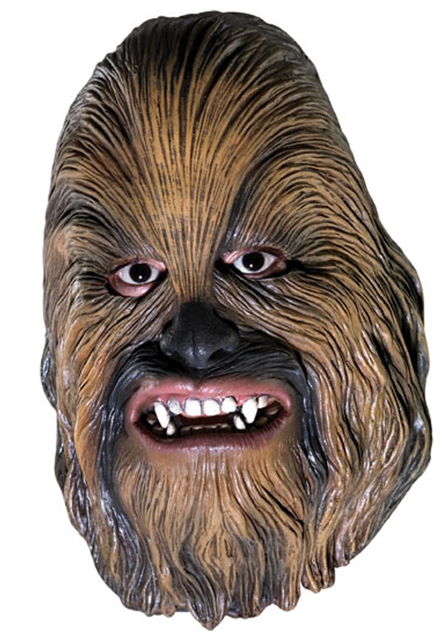 vinyl 3/4 chewbacca mask - halloween costumes