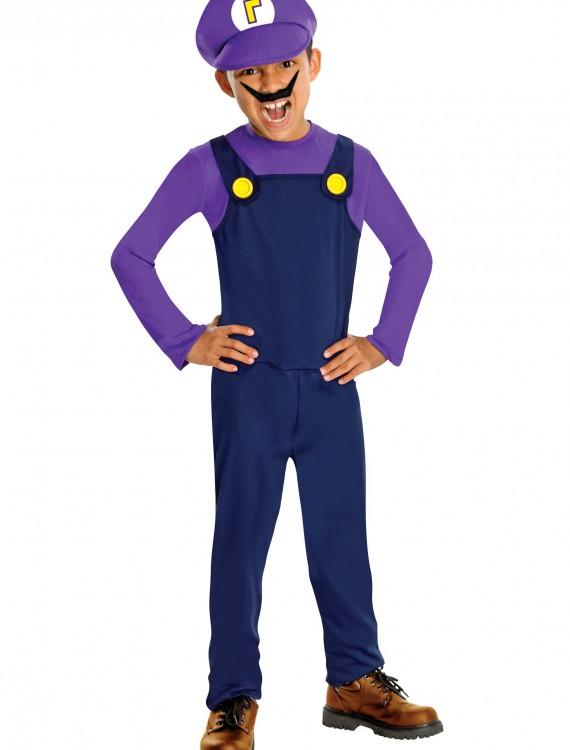 Waluigi Kids Costume, halloween costume (Waluigi Kids Costume)