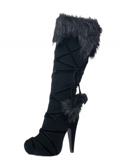 Warrior Black Lace Up Boots, halloween costume (Warrior Black Lace Up Boots)