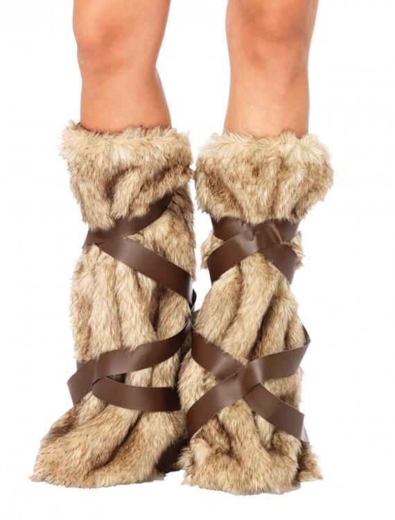 Warrior Fur Leg Warmers, halloween costume (Warrior Fur Leg Warmers)