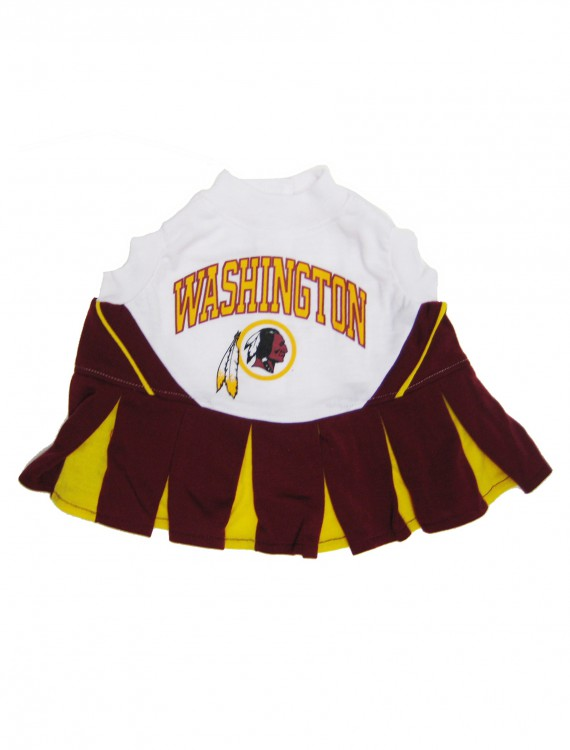 Washington Redskins Dog Cheerleader Outfit, halloween costume (Washington Redskins Dog Cheerleader Outfit)