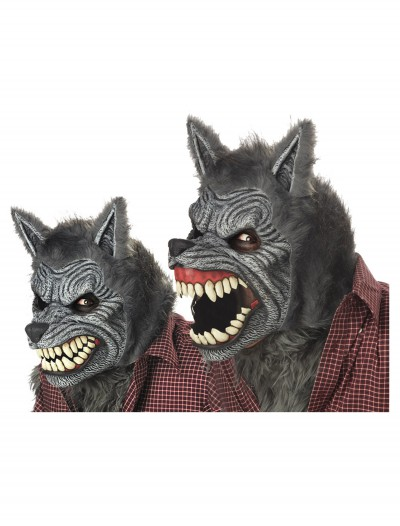 Grey Werewolf Ani-Motion Mask, halloween costume (Grey Werewolf Ani-Motion Mask)