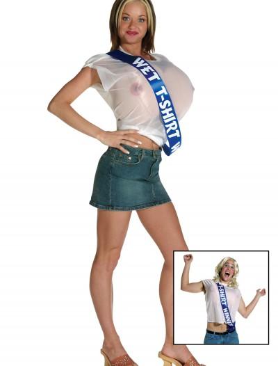 Wet T-Shirt Winner Costume, halloween costume (Wet T-Shirt Winner Costume)