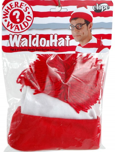 Where's Waldo Hat, halloween costume (Where's Waldo Hat)