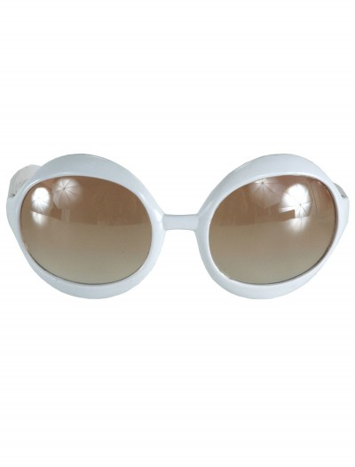 White 70s Sunglasses, halloween costume (White 70s Sunglasses)