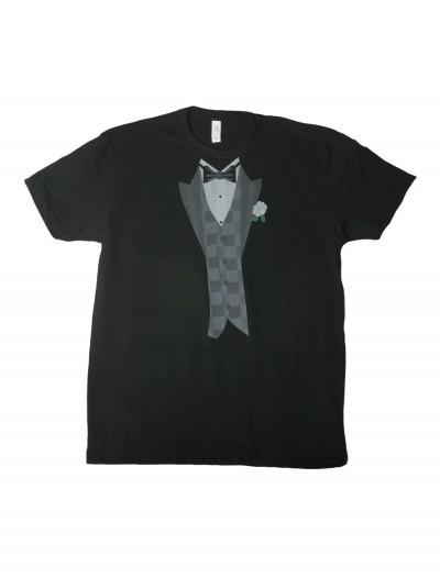 White Flower Black Tuxedo Costume T-Shirt, halloween costume (White Flower Black Tuxedo Costume T-Shirt)