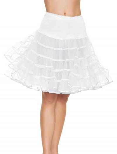White Knee Length Petticoat, halloween costume (White Knee Length Petticoat)