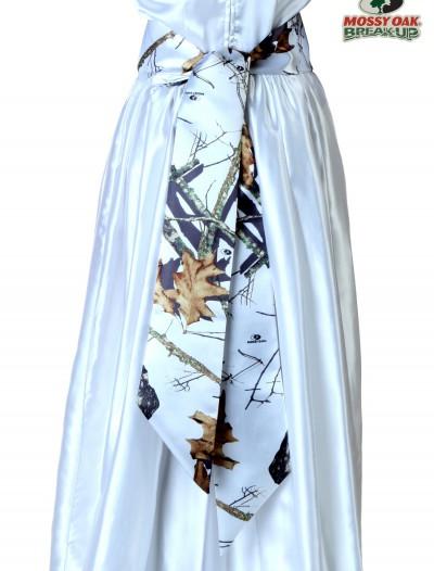 White Mossy Oak Bridal Sash, halloween costume (White Mossy Oak Bridal Sash)