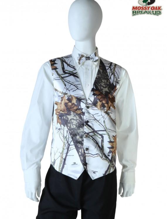 White Mossy Oak Full Back Vest, halloween costume (White Mossy Oak Full Back Vest)