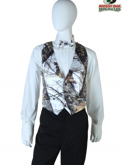 Plus Size White Mossy Oak Open Back Vest, halloween costume (Plus Size White Mossy Oak Open Back Vest)