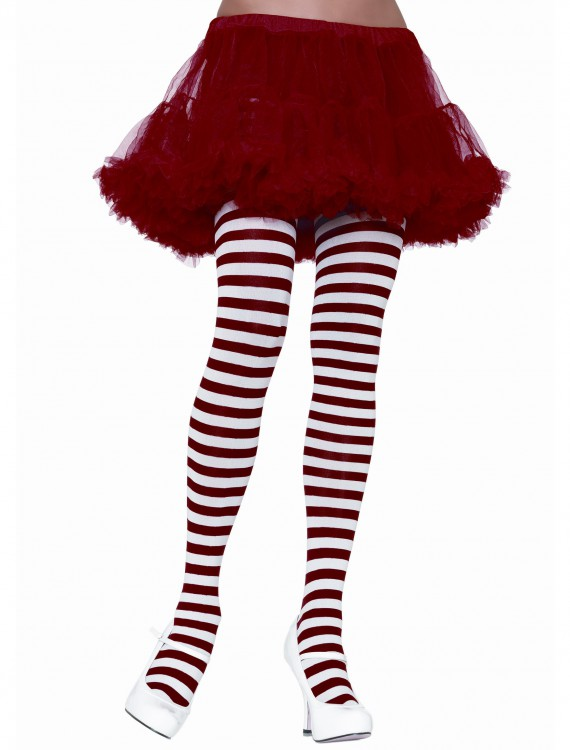 White / Red Striped Tights, halloween costume (White / Red Striped Tights)