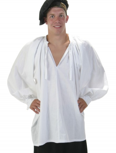 White Renaissance Peasant Shirt, halloween costume (White Renaissance Peasant Shirt)