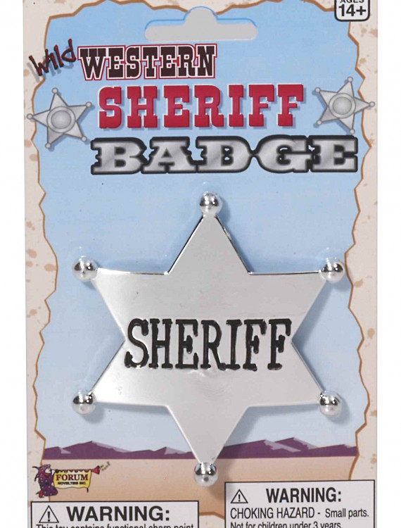 Wild West Sheriff Badge, halloween costume (Wild West Sheriff Badge)