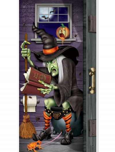 Witch Bathroom Door Cover, halloween costume (Witch Bathroom Door Cover)
