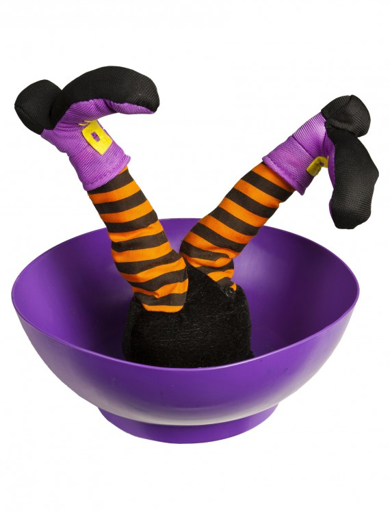 Witch Candy Bowl w/ Sound and Kicking Legs, halloween costume (Witch Candy Bowl w/ Sound and Kicking Legs)