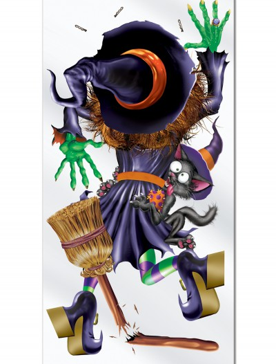 Witch Crashing Door Cover, halloween costume (Witch Crashing Door Cover)