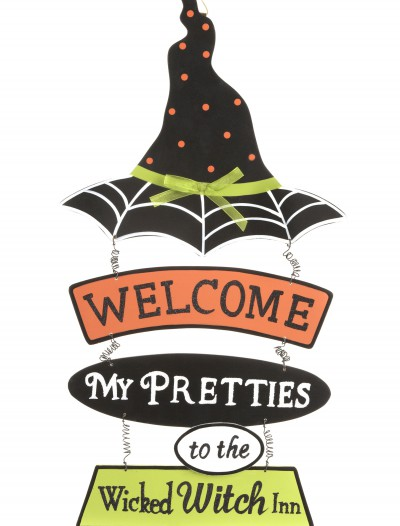 Witch Hat Welcome Sign, halloween costume (Witch Hat Welcome Sign)
