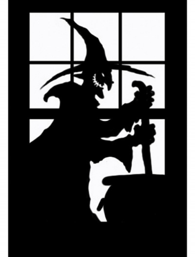 Witch Window Cling, halloween costume (Witch Window Cling)