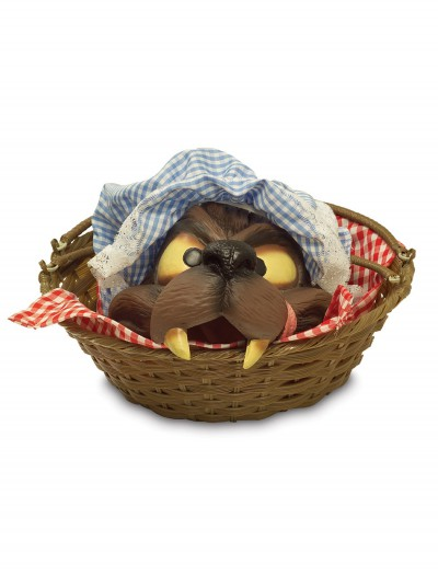 Wolf Head in Basket, halloween costume (Wolf Head in Basket)
