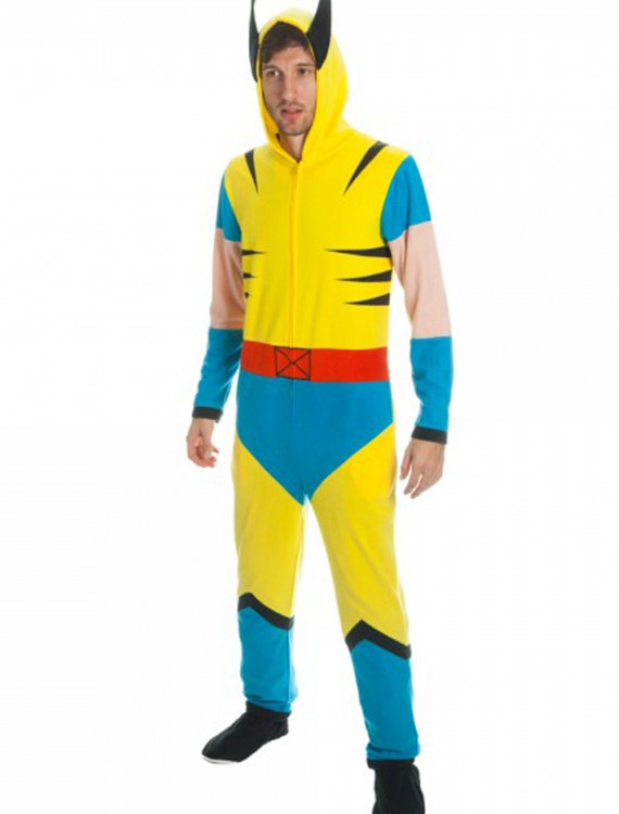 Wolverine Mens Yellow Union Suit, halloween costume (Wolverine Mens Yellow Union Suit)