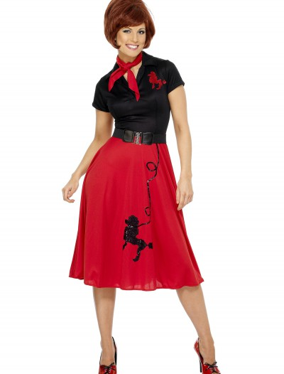 Womens 50s Style Poodle Costume, halloween costume (Womens 50s Style Poodle Costume)