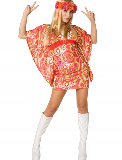 Womens 60s Hippie Costume, halloween costume (Womens 60s Hippie Costume)